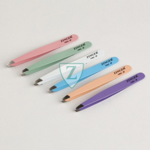 Pinzette colorate punta obliqua
